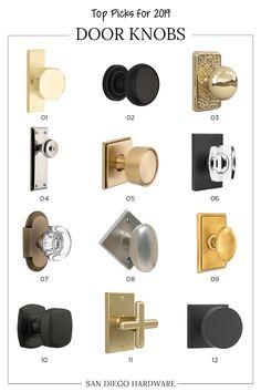 Popular Door Handles In Satin Brass, Matte Black, And More. Interior Design  Trends For. San Diego ...