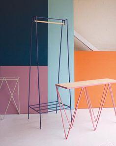 &New: Modern, Minimalist Furniture Made of Steel - Design Milk Minimalist Furniture, Minimalist Interior, Modern Minimalist, Minimalist Design, Modern Design, Design Furniture, New Furniture, Furniture Making, Luxury Furniture