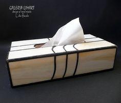 GIFT lux. Stained glass box  on the tissue. Elegantly and uniquely :) // PREZENT lux. Pudełko witrażowe na chusteczki. Elegancko i unikatowo :)
