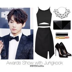 Awards Show with Jungkook by btsoutfits on Polyvore featuring Topshop, Yves Saint Laurent, UN United Nude, WXYZ by Laura Wass and Chanel