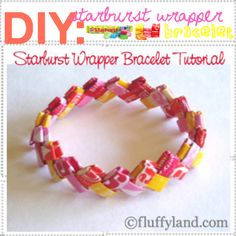 DIY- starburst wrapper bracelet tutorial. I must make these with my bean