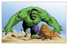 Hulk - Clayton Henry Color Comic Art