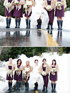 Winter Wedding at The Four Seasons Whistler, Photo by Anastasia Photography via http://junebugweddings.com