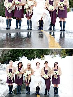 Winter Wedding at The Four Seasons Whistler, Photo by Anastasia Photography via http://junebugweddings.com