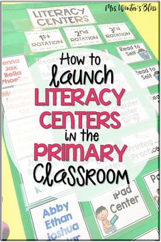 Tips and ideas for teachers who are setting up literacy centers in kindergarten, first, or second grade classrooms. Essential information to create student small groups, choose reading and writing center activities, and effectively organize materials and classroom space! #literacycenters #kindergarten #firstgrade #secondgrade #teachingreading #teachingwriting #classroommanagement #mrswintersbliss