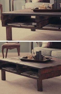 DIY Rustic Pallet Coffee Table   27 DIY Rustic Decor