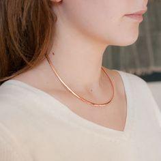 Rose Gold Torque Necklace - necklaces & pendants