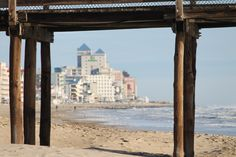 View of Ocean City through the pier