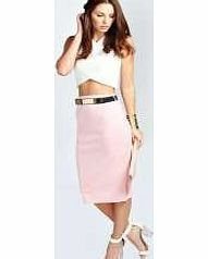 boohoo Sienna Metal Belt Scuba Midi Skirt - baby pink Streamline your style in a sleek skirt . Take your style to new lengths, whether it's micro minis or split side maxis, or flirt with the feminine side of fashion in a form fitting pencil skirt. Our st http://www.comparestoreprices.co.uk/skirts/boohoo-sienna-metal-belt-scuba-midi-skirt--baby-pink.asp