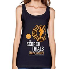 HO Thriller Maze Runner The Scorch Trials Logo Tank Top for Women Black Geek Birthday, Maze Runner The Scorch, The Scorch Trials, Thriller, Amazon, Tank Tops, Logos, T Shirt, Stuff To Buy