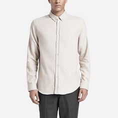 Hemd mit Button-Down-Kragen und Ton-in-Ton Melierung: https://sturbock.me/?s=hemd#51461