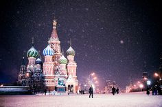moscow. snow.