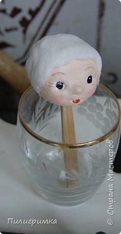 Лучший способ сделать личико для ватной игрушки - воспользоваться МК Ольги Симаковой …