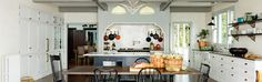Victorian Kitchen – Jessica Helgerson Interior Design. Counter to ceiling subway tiling