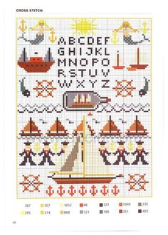 annadrianna — «Cross stitch alphabet - Interesting color patterns - [scanned version] HD» на Яндекс.Фотках