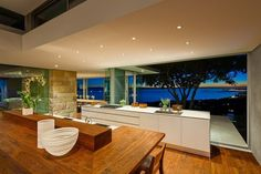 Place the kitchen on a higher level for the best possible views
