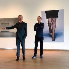 Artistiek directeur Ype Koopmans en kunstenaar Arnout Killian bij de opening van de Enter the void. Te zien in Museum MORE t/m 19 juni 2015
