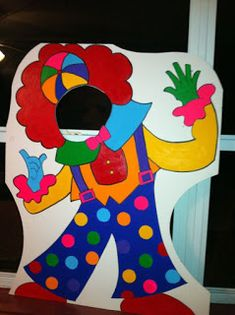 Circus or Carnival Themed Clown - Party Photo Props - Clown Event Photo Prop Clown Party, Circus Carnival Party, Circus Theme Party, Carnival Birthday Parties, Carnival Themes, Circus Birthday, Birthday Party Themes, Circus Clown, Theme Carnaval