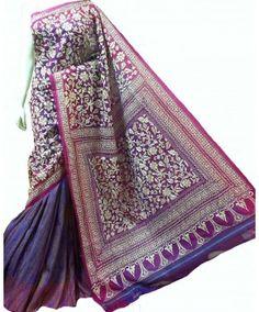 Craftsmen of India - Kantha embroidery, Kantha Sarees, Kantha Work sarees, kantha silk saree, Nakshi kantha Saree, Shop online saree, Black saree, multicolour saree, Silk kantha Saree,
