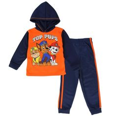 Infant Sizes 12 Months 18 Months 24 Months Toddler Sizes 2T 3T 4T Made From 100% Polyester Color Orange And Navy Blue Label Nick Jr Paw Patrol Officially Licensed Nick Jr Paw Patrol Infant And Toddler Clothes