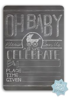 Baby Shower Chalkboard Invite - Free Printable!!