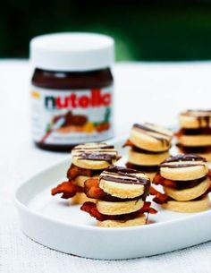Delicioso postres con Nutella. Nutella hacks. Nutella food. Comida con Nutella. Galletas de Nutella con fresas
