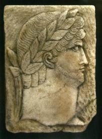 Roman Imperial Carved Relief Tile Of Augustus Nero Caeser