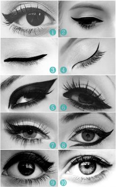 smokey cat eye makeup cat eye makeup tutorial cat eye makeup tips cat eye tutorial for beginners how to do cat eyes step by step with pictures smokey eye makeup cat eye makeup stencil how to do cat eyes with liquid eyeliner All Things Beauty, Beauty Make Up, Girly Things, Hair Beauty, Girly Stuff, Fun Things, Random Things, Crazy Things, Beauty Secrets