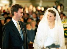 Duchess Eilika von Oldenburg and Archduke Georg of Austria's wedding on 18 Oct, 1997