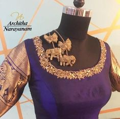 Stunning designer blouse with elephant motifs. 30 October 2017