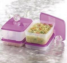 "Tupperware Freezer Mates Family Size Set by Tupperware. $47.49. Need a handy way to freeze foods for family meal servings? This four-pc. set forms a tidy, modular storage system that provides more efficient freezing and thawing. It saves freezer space and extends the life of foods, saving you on your grocery bill, too. When you're ready, the flexible containers and seals make it easy to ""pop"" out frozen foods."