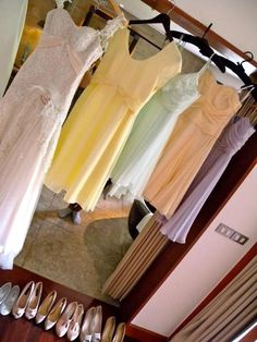 My dress and mismatched bridesmaid dresses