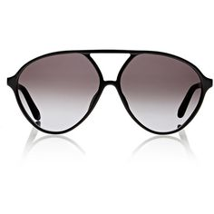 Valentino Aviator Sunglasses ($260) ❤ liked on Polyvore featuring accessories, eyewear, sunglasses, multi, aviator glasses, acetate glasses, black aviators, aviator sunglasses and logo sunglasses