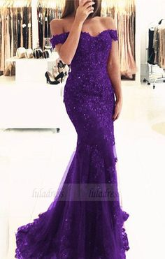 purple lace mermaid prom dresses beaded v neck evening gowns off the shoulder prom dress Evening Dresses Mermaid, Evening Dresses V-neck, Prom Dresses Lace, Evening Dresses Purple, Prom Dress Prom Dresses 2019 Purple Evening Dress, Lace Evening Dresses, Elegant Dresses, Evening Gowns, Beautiful Dresses, Mermaid Prom Dresses Lace, V Neck Prom Dresses, Lace Mermaid, Bridesmaid Dresses