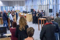 Opening expositie Dysfunctional Matters door wethouder Frits Huis. © Geert Fotografeert / Corrosia Stad