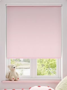 Sevilla Tranquility Pink Blackout Roller Blind from Blinds 2go