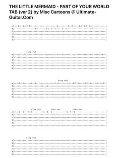 Guitar Strings - Always Aspired To Learn Guitar? Ukulele Songs Disney, Ukulele Tabs Songs, Ukulele Fingerpicking Songs, Easy Guitar Tabs, Easy Guitar Songs, Uke Tabs, Simple Guitar, Guitar Tabs Acoustic, Guitar Chords For Songs