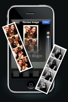 Photo Booth App - party invite or thank you note for a DIY photo booth! Love it!