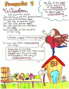 Doodle Through The Bible: Proverbs 9 Illustrated Faith Journal entry for Good Morning Girls (GMG) Bible Study, Free printable PDF Coloring page link at the website. Come Join the Proverbs Linky Party to share your work! Scripture Doodle, Scripture Study, Bible Art, Bible Scriptures, Book Of Proverbs, Bible Study Journal, Bible Knowledge, Bible For Kids, Journaling