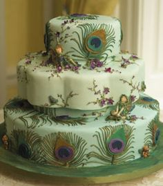 Beautiful Cakes By Canadian Baker Bonnie Gordon : wedding cake cc_peacock Peacock cake! Beautiful Cakes By Canadian Baker Bonnie Gordon : wedding cake cc_peacock … Peacock Cake, Peacock Wedding Cake, Wedding Cakes, Feather Cake, Peacock Colors, Green Peacock, White Peacock, Peacock Theme, Peacock Design