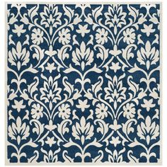 Amherst Navy/Ivory (Blue/Ivory) 7 ft. x 7 ft. Indoor/Outdoor Square Area Rug