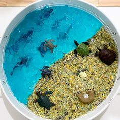 Sands Recipe, Tuff Spot, Tuff Tray, Blue Food Coloring, Small World, Diy For Kids, Kids Playing, Ocean, Games