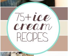 75+ Ice Cream Recipes | www.somethingswanky.com