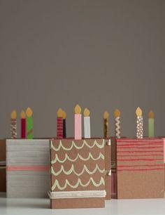 DIY Chipboard Birthday Cakes