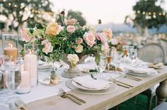 La Tavola Fine Linen Rental: Hemstitch White Table Runner with Tuscany White Napkins | Photography: Jen Huang Photography, Design & Florals: Inviting Occasion Event Planning & Design: Davia Lee Weddings, Catering: Field to Table, Rentals: The Tent Merchant and Barn Relic, Menu: Perfect Fete, Venue: Sunstone Villa