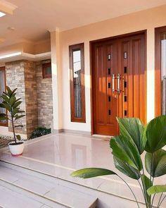 Best 35 Home Decor Ideas - Lovb House Main Door Design, Main Entrance Door Design, Home Entrance Decor, Door Gate Design, Village House Design, Kerala House Design, Bungalow House Design, Front Door Design, House Entrance
