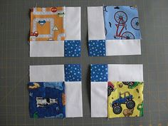 Obsessively Stitching: Disappearing Nine-Patch: I-Spy Version...nice tutorial
