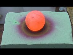 When He Placed A Red Hot Ball Of Nickel On A Block Of Foam, I Never Expected THIS To Happen!