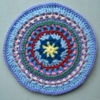 Crochet Mandala Wheel made by Jacky, Edinburgh, Scotland, for yarndale.co.uk