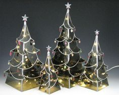 Stained Glass Holiday Trees